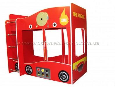 Кровать 2-х ярусная Пожарная машина