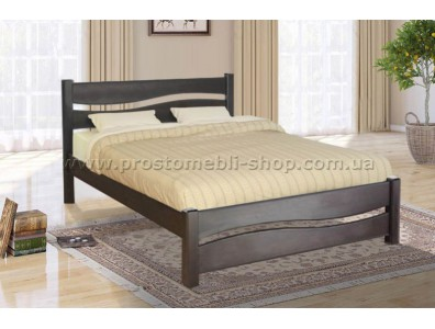Кровать деревянная Волна 160