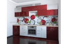 Кухня Делис 3,0 МДФ Вишня + Белый