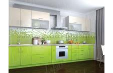 Кухня Делис 400 см МДФ Ваниль + Лайм
