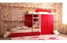 Кровать 2-х ярусная Твинс + шкаф