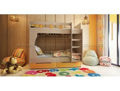 Кровать 2-х ярусная Марли с выдвижными ящиками для бель