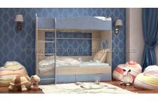 Кровать 2-х ярусная Симба с выдвижными ящиками для бель
