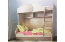 Кровать 2-х ярусная Балу с выдвижными ящиками для бель