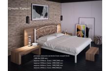 Металлическая кровать Карисса